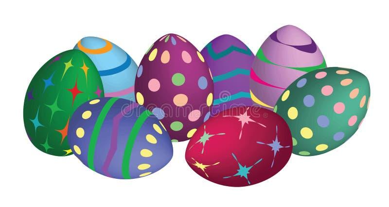 现代的复活节彩蛋 库存图片