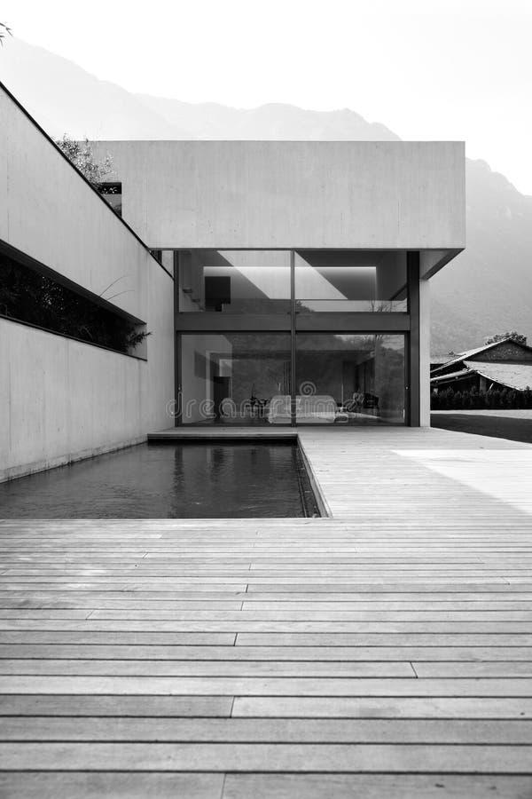 现代的房子 免版税库存图片