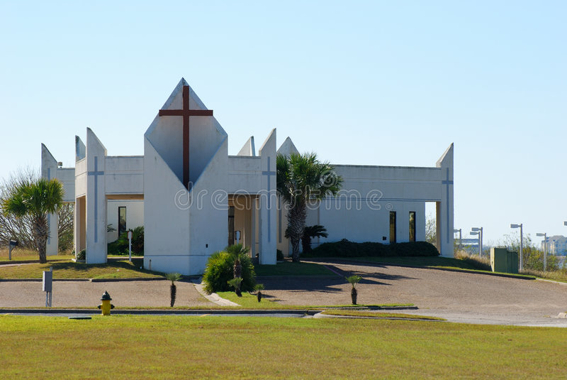现代的教会 免版税图库摄影