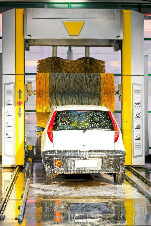现代的洗车 库存照片