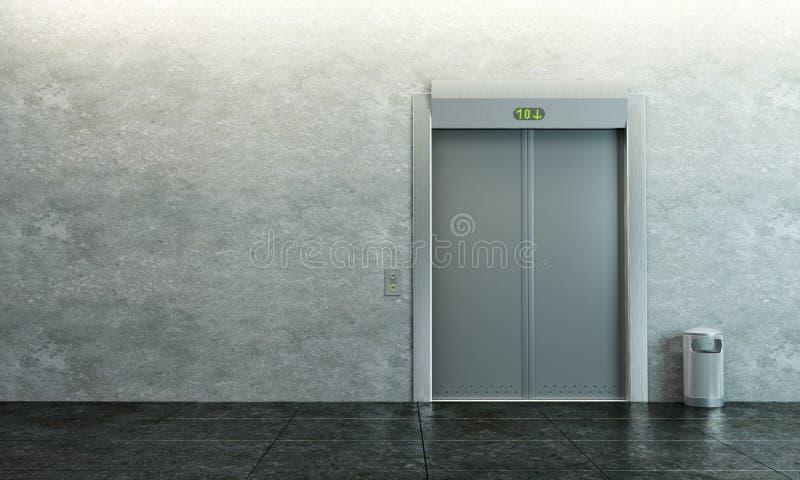 现代的电梯 皇族释放例证