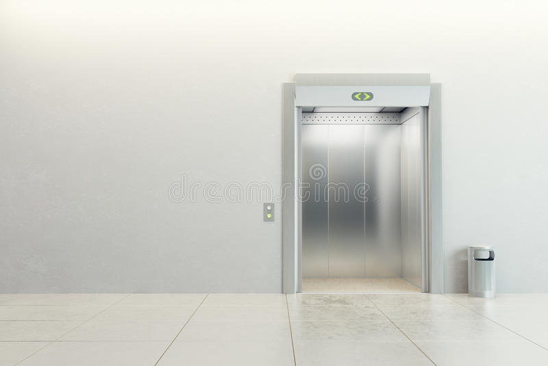 现代的电梯 向量例证