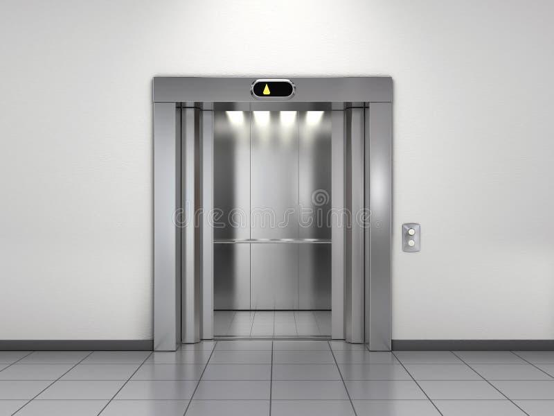 现代的电梯 库存例证