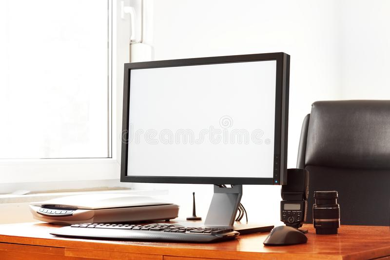 现代的计算机 免版税库存照片