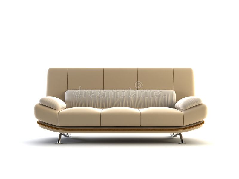 现代的长沙发 皇族释放例证