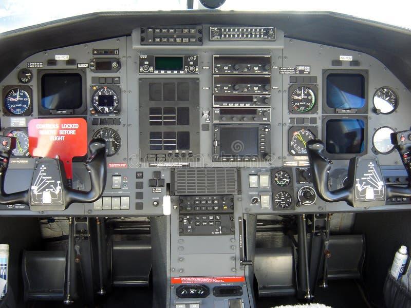 现代的驾驶舱 免版税库存图片