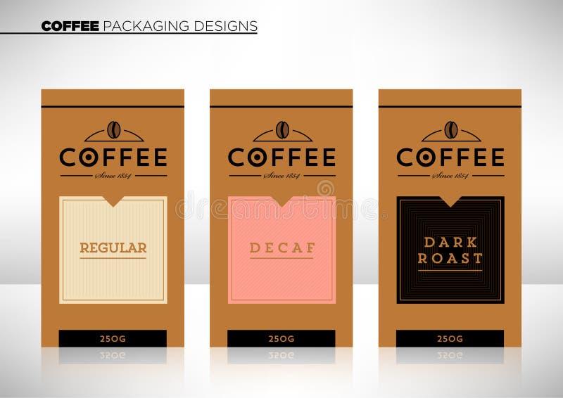 现代矢量咖啡包装模板 免版税图库摄影