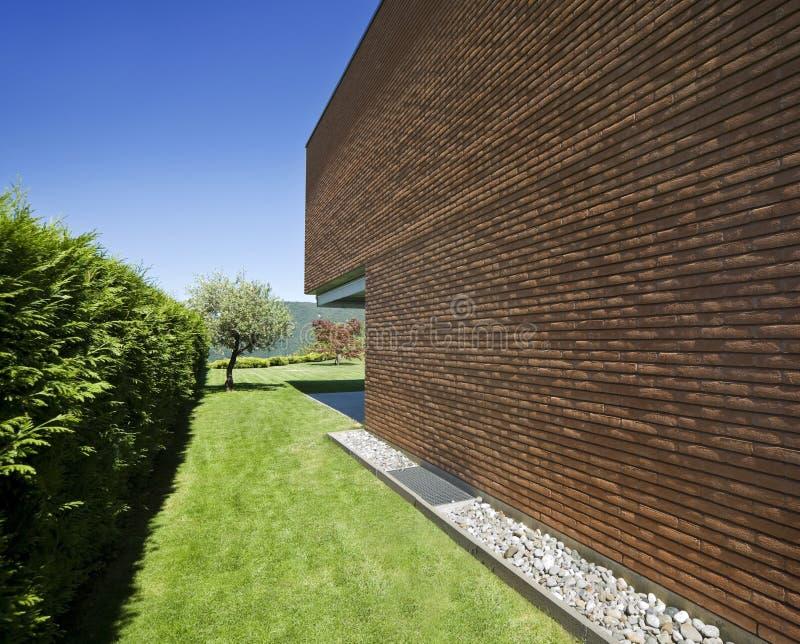 现代砖的房子 库存图片