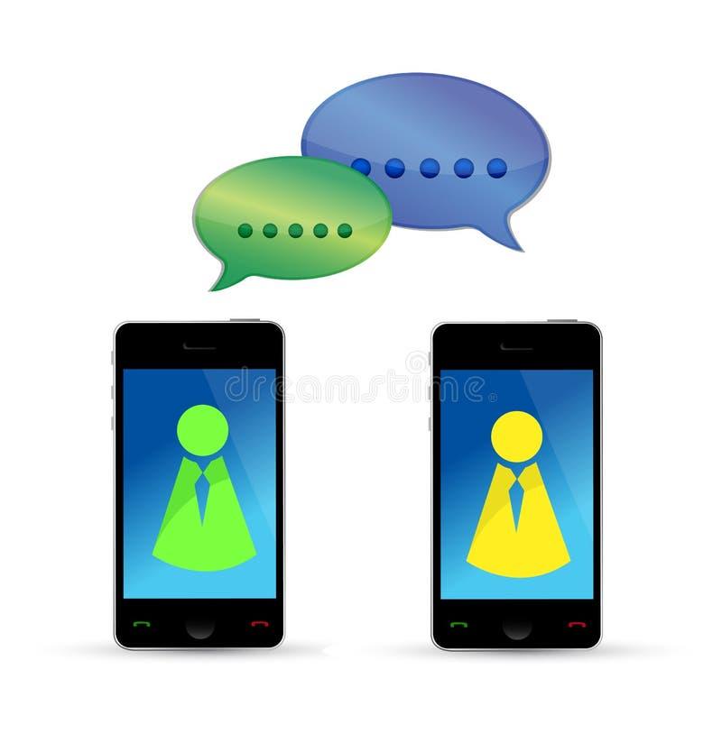 现代移动电话通信概念 向量例证
