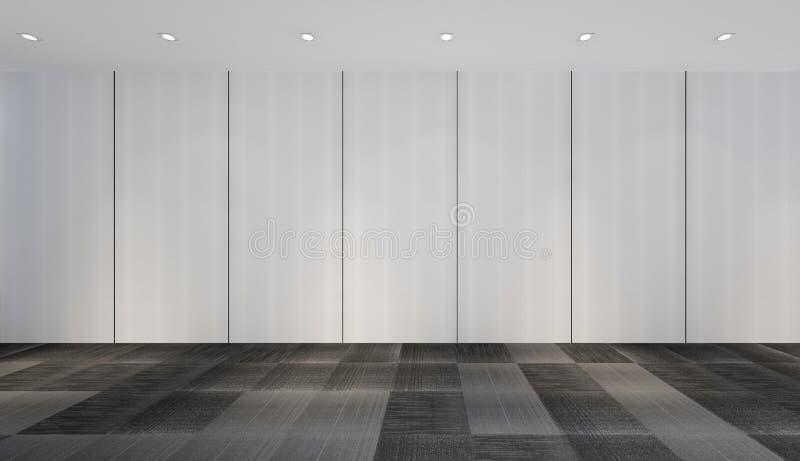 现代空的室, 3d回报室内设计, illustrati的嘲笑 向量例证