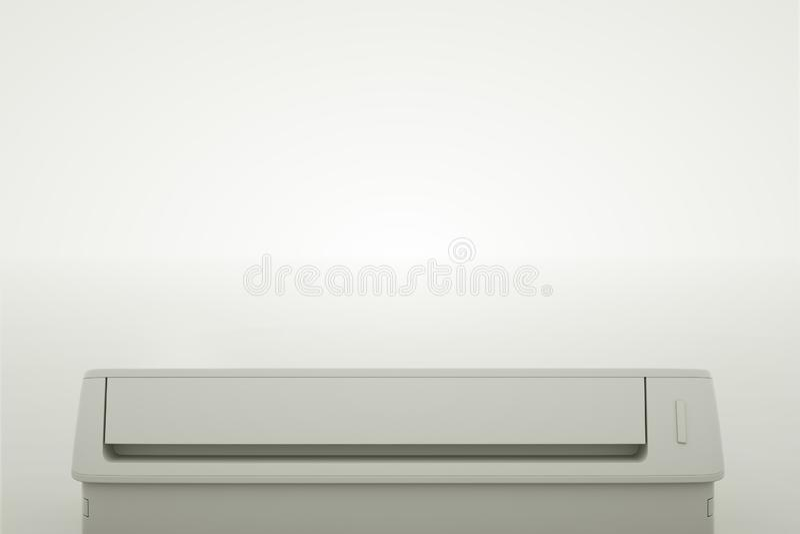 现代空调的底视图 3d?? 皇族释放例证