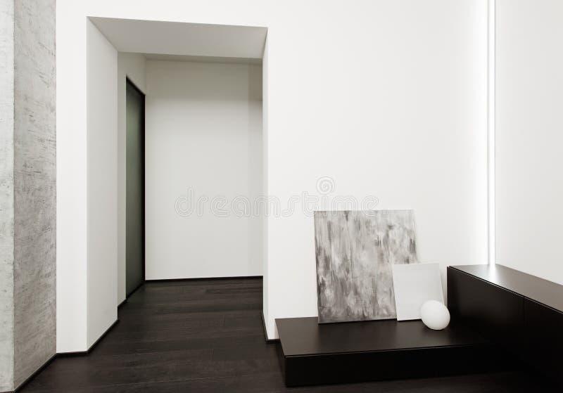 现代简单派样式大厅内部 免版税库存照片