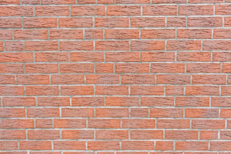 现代红砖墙壁背景纹理 免版税库存照片
