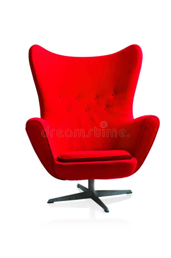 现代红色椅子 免版税库存照片