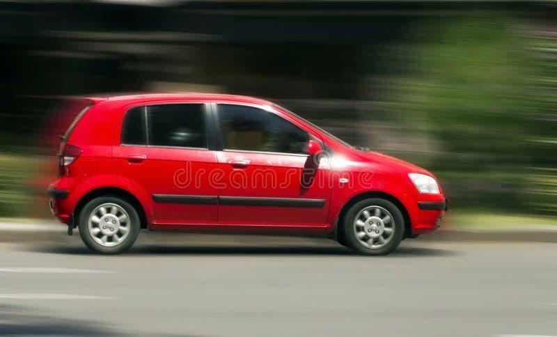 现代红色汽车 免版税图库摄影