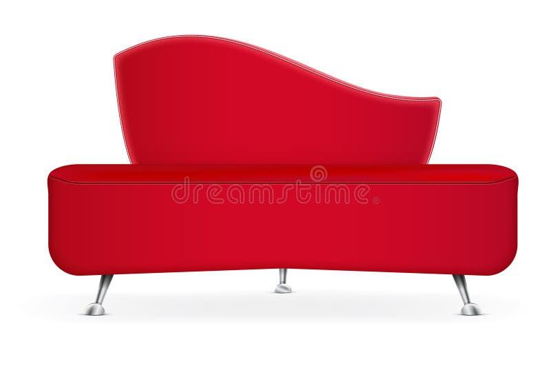 现代红色沙发 库存例证