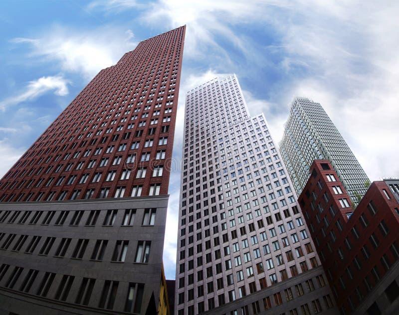 现代结构在小室Haag,荷兰 免版税库存图片