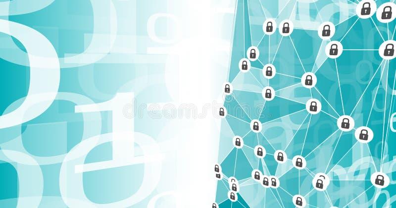 现代网络战争,二进制数字变革 库存例证