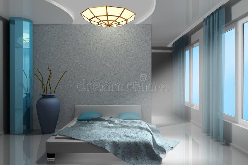 现代美丽的卧室 皇族释放例证
