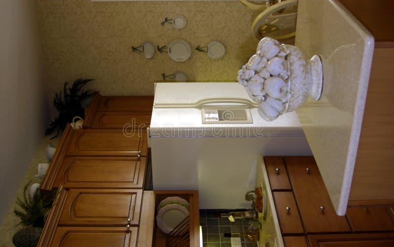 现代美国中心海岛的厨房 免版税图库摄影