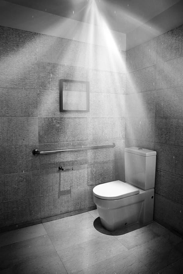 现代聚光灯洗手间 库存图片