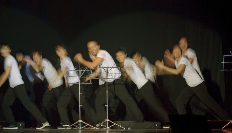 现代舞蹈法国的Hip Hop 库存图片
