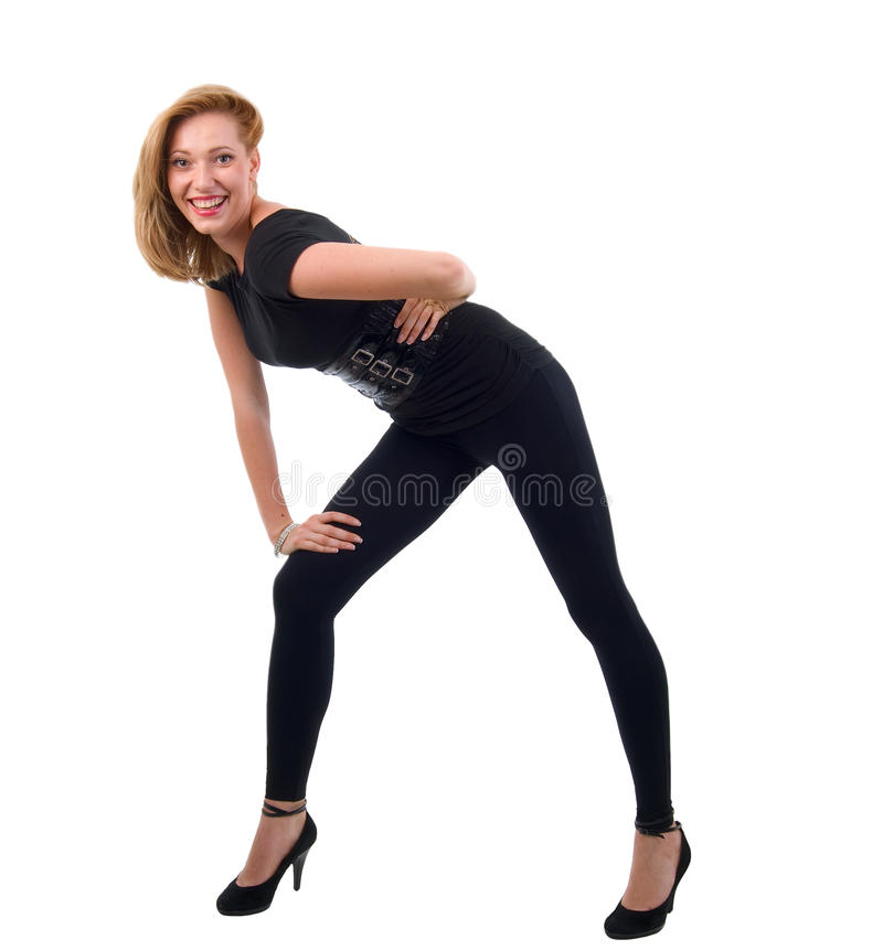 现代舞蹈演员的女孩 免版税库存图片