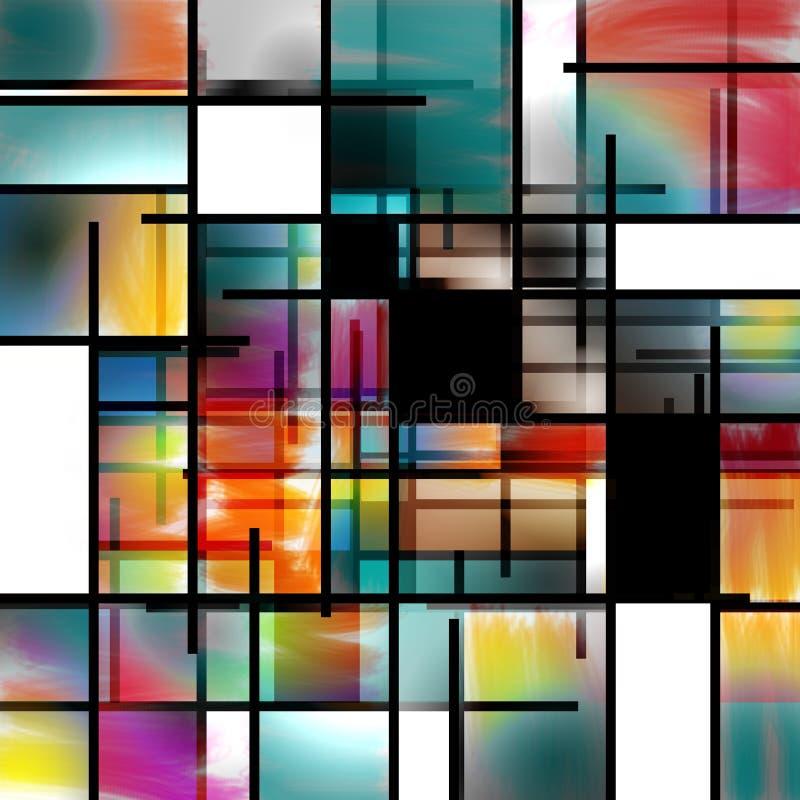 现代艺术摘要 向量例证