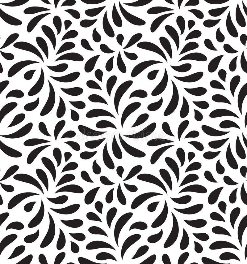 现代花卉无缝的传染媒介样式 下落形状背景 成为原动力时髦的叶子 免版税库存照片