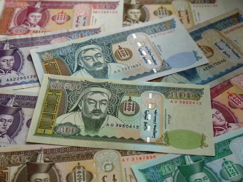 现代蒙古的货币 库存照片