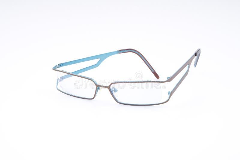 现代蓝眼睛的玻璃 库存照片