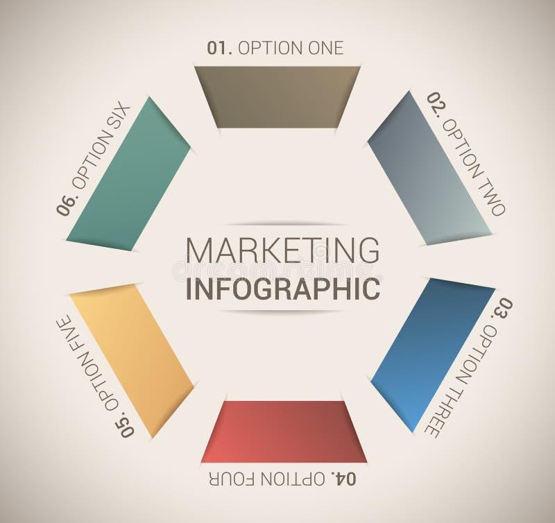 现代虚拟颜色设计模板/infographics 向量例证
