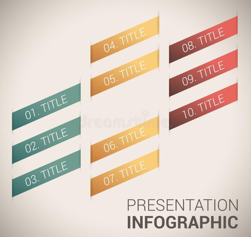 现代虚拟颜色设计模板/infographics 皇族释放例证