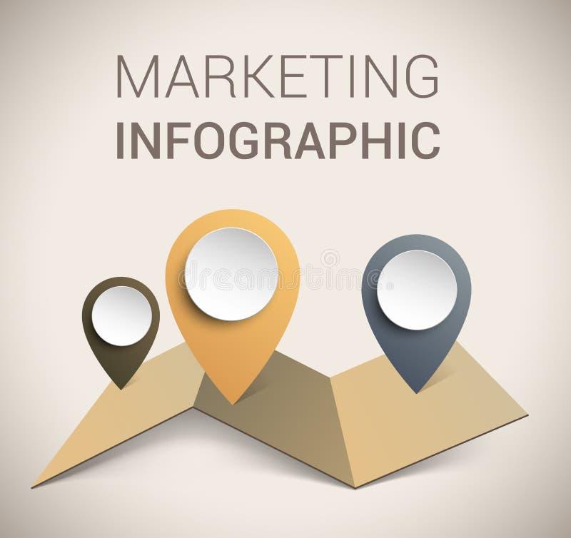 现代虚拟颜色设计模板/infographics 库存例证
