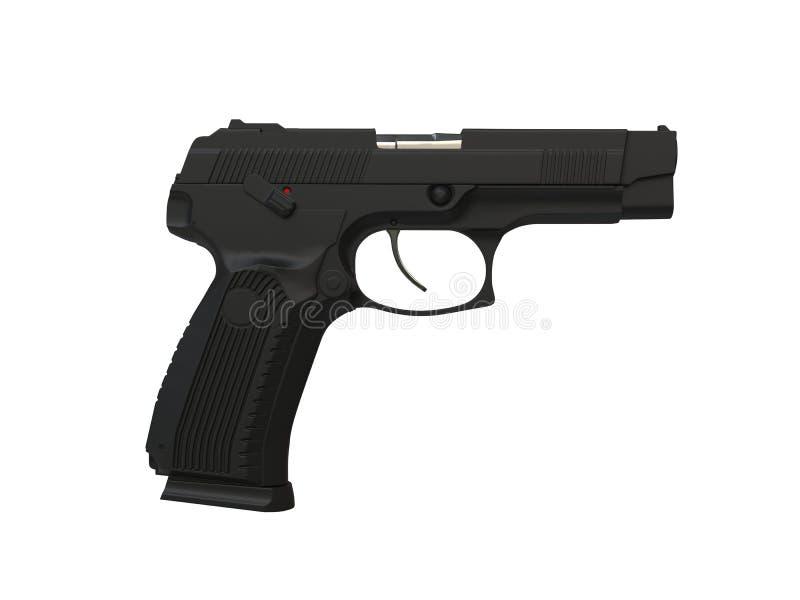 现代表面无光泽的黑作战手枪 向量例证