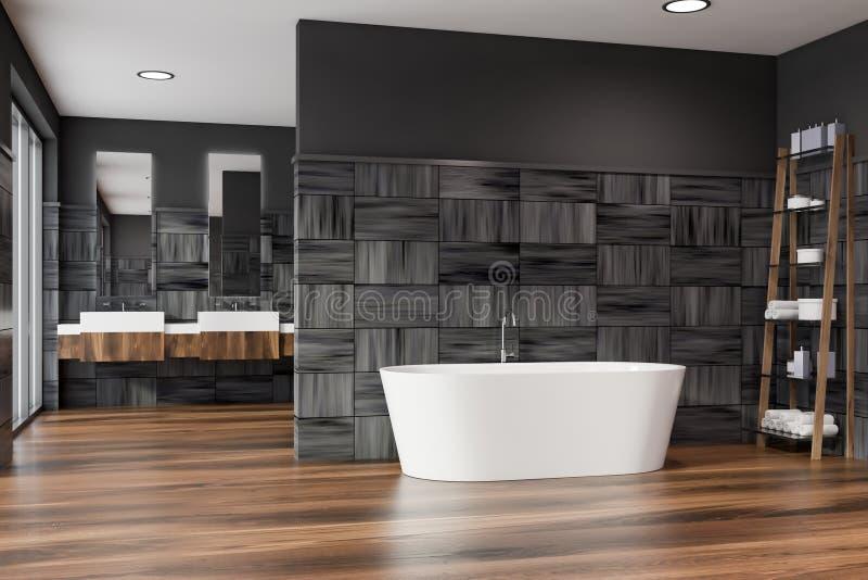 现代设计与bathtube的卫生间内部 皇族释放例证