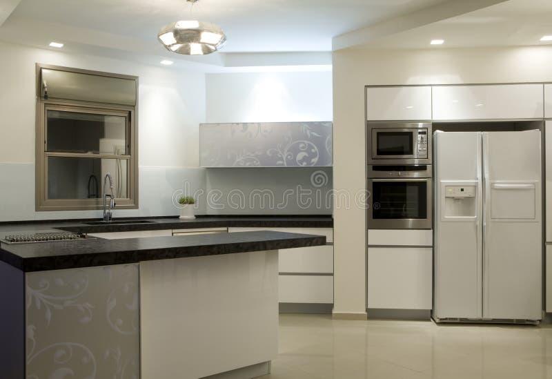 现代设计的厨房 库存图片