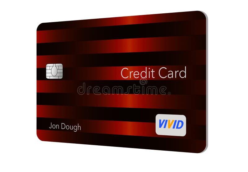 现代设计这里信用卡是与最小数量的图表的一张普通信用卡在是mod的趋向的前面 库存例证