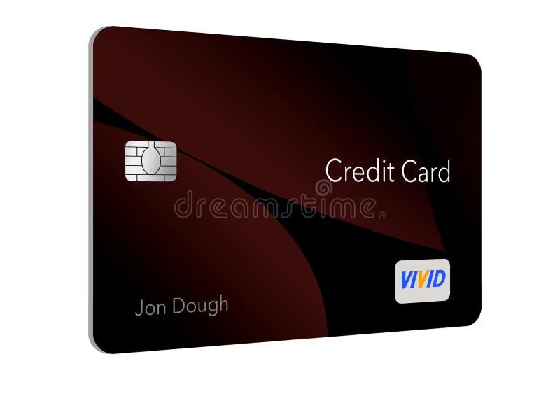 现代设计这里信用卡是与最小数量的图表的一张普通信用卡在是mod的趋向的前面 皇族释放例证
