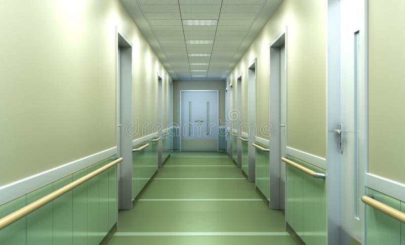 现代诊所明亮的被弄脏的背景走廊spaciou 免版税图库摄影