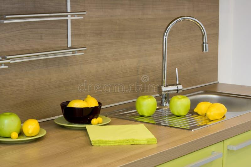 现代详细资料的厨房 库存照片
