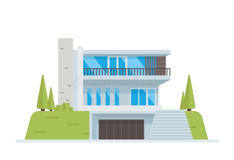 现代豪华当代房屋建设例证 皇族释放例证