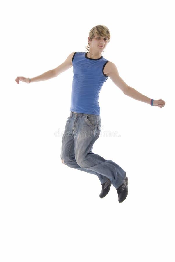 现代跳的人 免版税库存照片