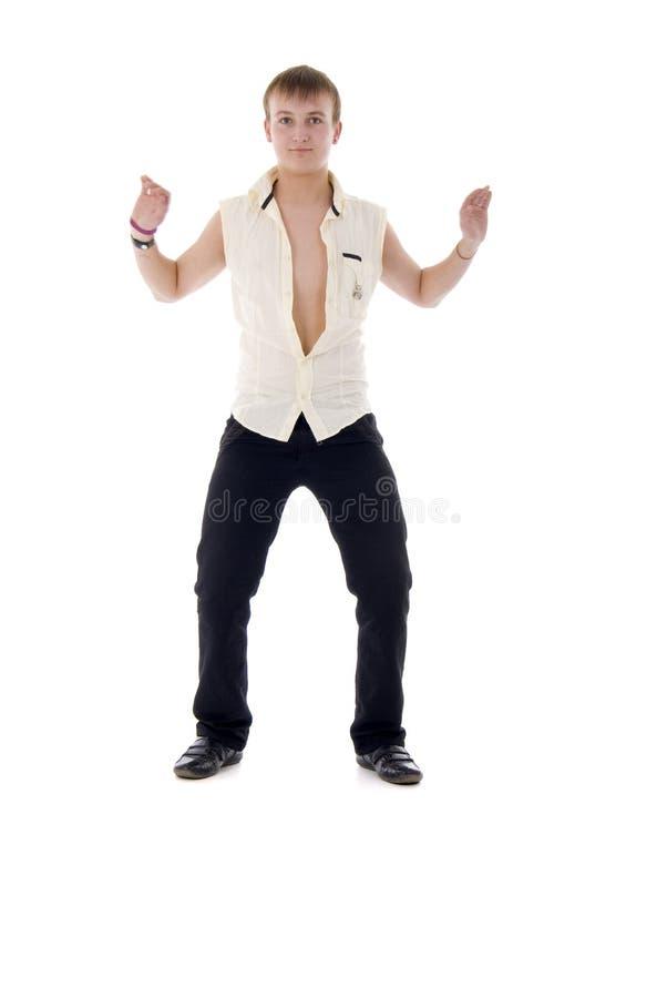 现代跳舞的人 免版税库存照片