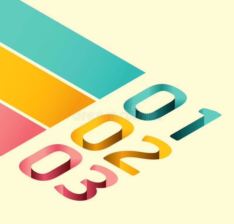 现代软的颜色设计模板 向量例证