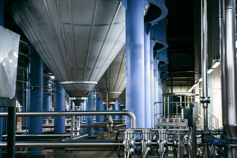 现代酿酒者工厂 库存照片