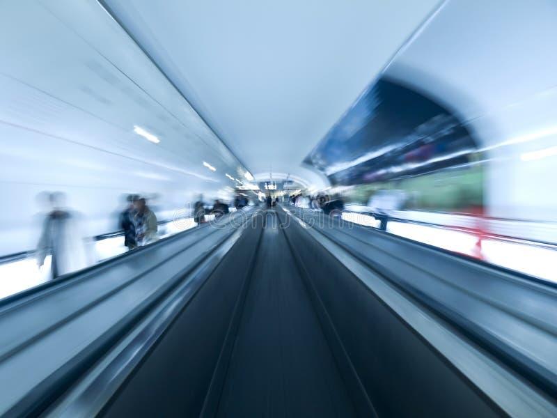 现代隧道走道 免版税库存图片