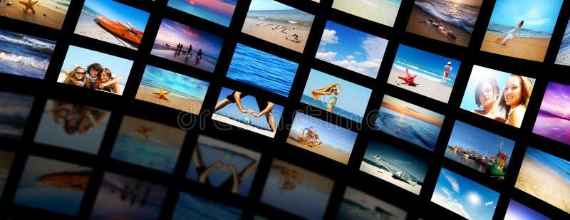 现代面板筛选电视 免版税库存图片