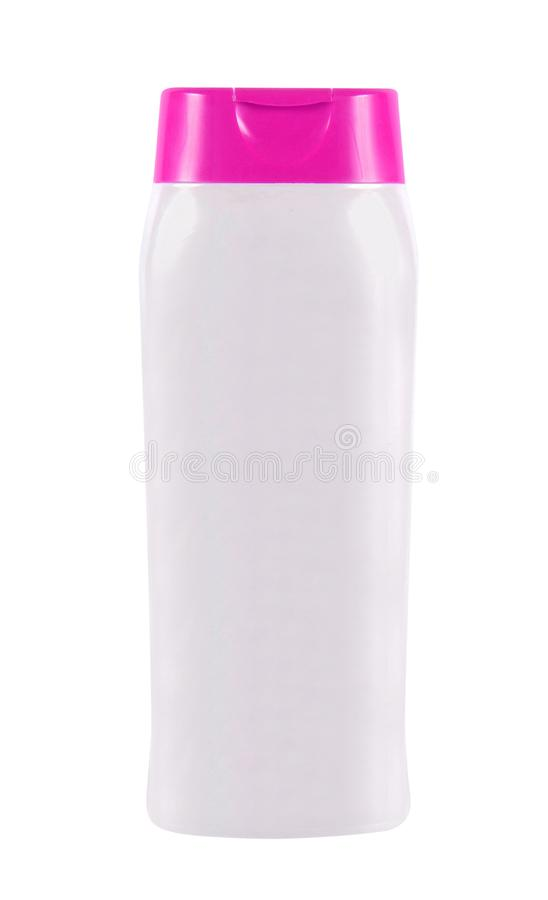 现代香波瓶 免版税库存照片