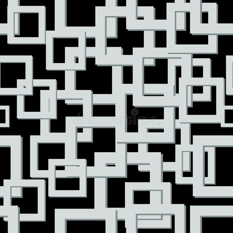 现代马赛克Backgound 无缝的纹理向量 抽象几何模式 库存例证